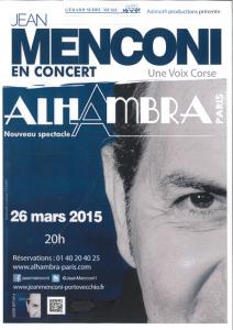 Concert à l'Alhambra le 26 mars 2015